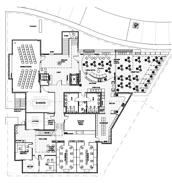 KOBP - Building 14 - Proposed Ground Floor Plan